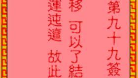 吕祖灵签第99签是什么意思