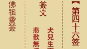 佛祖灵签第46签是什么意思