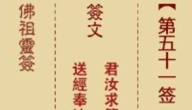 佛祖灵签第51签是什么意思