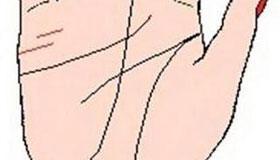 手相婚姻线图解:婚姻线尾部出现一条短线