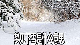 梦见下雪是什么意思有什么寓意 要注意什么