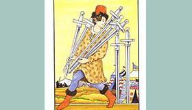 塔罗牌占卜宝剑七正位逆位解读
