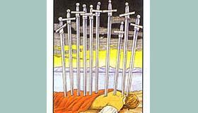 塔罗牌宝剑十正位逆位有什么含义