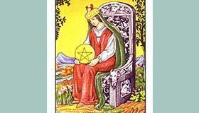 塔罗牌星币王后解牌分析代表了什么含义