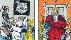 韦特塔罗牌中国王和死神的不同点